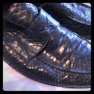 Kenneth Cole Black Embossed Loafer